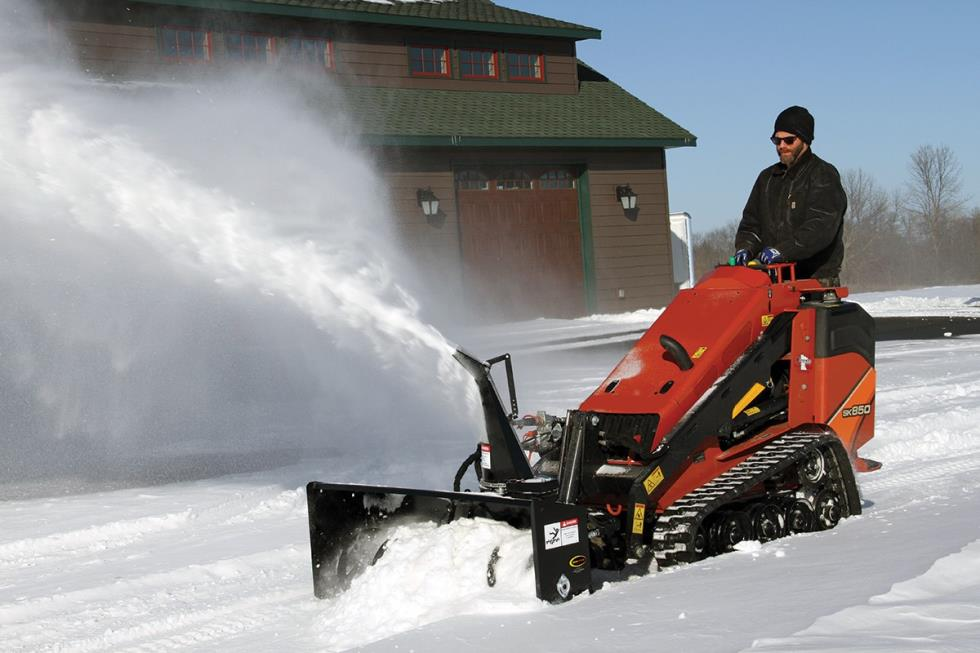 MINI SKIDSTEER SNOWBLOWER ATTACHMENT
