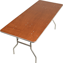 8 FOOT PLYWOOD FOLDING BANQUET TABLES